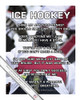"Ice Hockey Player Faceoff 13.75"" x 17"" Vinyl Wall Decal"