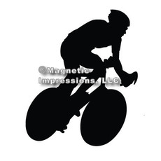 Cycling Car Magnet in Black