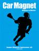 Lacrosse Male Player Car Magnet in Black
