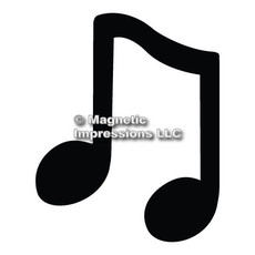 Music Note Car Magnet in Black