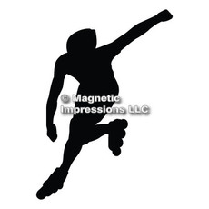 Inline Skater Car Magnet in Black