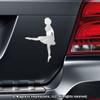 Irish Dancer Car Magnet in Chrome