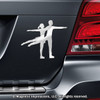 Figure Skater Pairs Car Magnet in Chrome