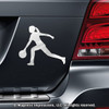 Bowler Female Car Magnet in Chrome