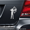 Archery Compound Bow Women's Car Magnet in Chrome