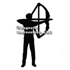Archery Compound Bow Men's Car Magnet in Black