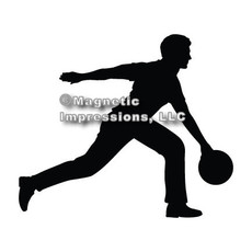 Bowler Male Car Magnet in Black