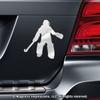 Field Hockey Goalie Car Magnet in Chrome