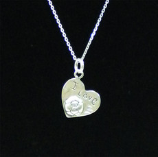 I love Soccer Sterling Silver Charm