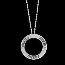 Cheer Word Sterling Silver Charm