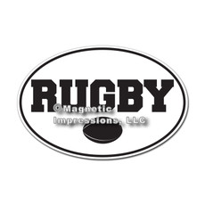 Rugby Word with Ball Magnet
