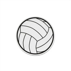 Volleyball Printed Car Magnet