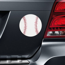 Baseball Printed Car Magnet on Car