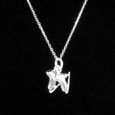 Ice Skates Sterling Silver Charm