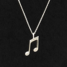 Music Note Sterling Silver Charm