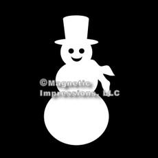 Snowman Car Magnet