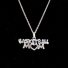 Basketball Mom Sterling Silver Charm