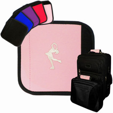 Figure Skater Emblem Luggage Handle Wrap