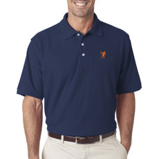 Men's Lacrosse Attack Player Emblem Polo in Navy
