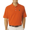 Lacrosse Player Emblem Men's Polo in Orange