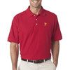 Men's Lacrosse Attack Player Emblem Polo in Red