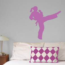 Martial Artist Female Wall Décor in Lilac
