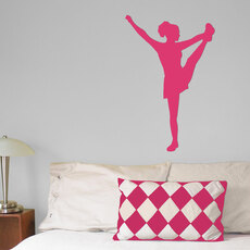 Cheerleader Heel Stretch Wall Décor in Hot Pink