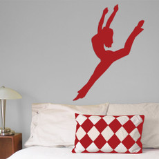 Contemporary Jazz Dancer Wall Décor in red