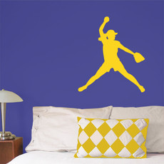 Softball Pitcher Wall Décor in Yellow