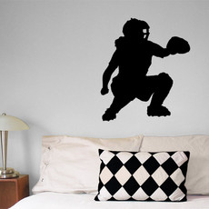 Softball Catcher Wall Décor in Black