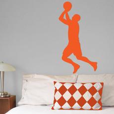 Basketball Male Wall Décor in Orange