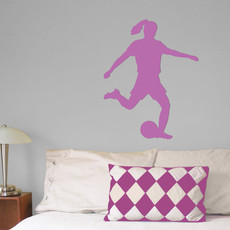 Soccer Female Wall Décor in Lilac