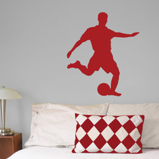 Soccer Male Wall Décor in Red