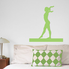 Gymnast Female Wall Décor in Green