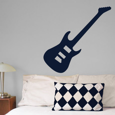 Guitar Electric Wall Décor in Dark Blue