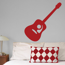 Guitar Acoustic Wall Décor in Red