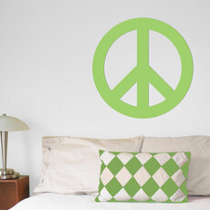 Peace Sign Wall Décor in Green