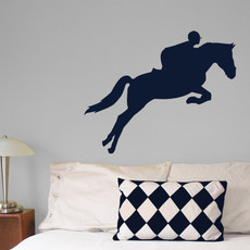 Equestrian Wall Décor in Dark Blue