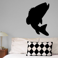 Bass Leaping Wall Décor in Black
