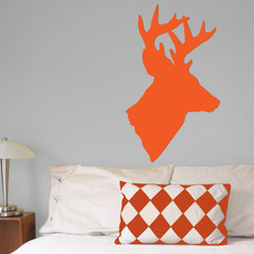 Deer Head Wall Décor in Orange