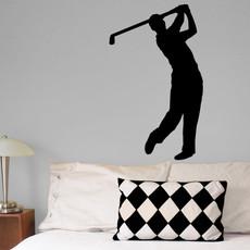 Golfer Male Wall Décor in Black