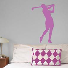 Golfer Female Wall Décor in Lilac