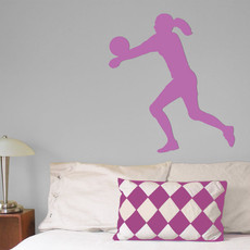 Volleyball Female Wall Décor in Lilac