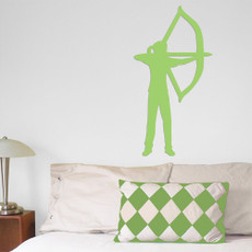 Archer Recurve Bow Female Wall Décor in Green