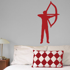 Archer Recurve Bow Male Wall Décor in Red
