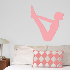 Yoga Pilates Wall Décor in Pink