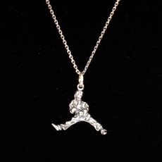 Martial Arts Male Sterling Silver Charm