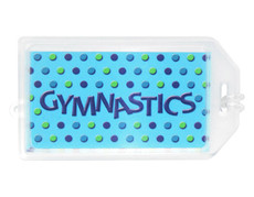 Gymnastics Plastic Luggage Tag