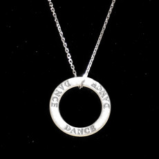 Dance Word Sterling Silver Charm