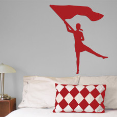 Color Guard Female Wall Décor in Red